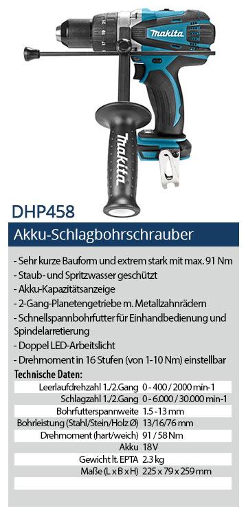 Makita-DHP458-Akku-Schlagbohrschrauber