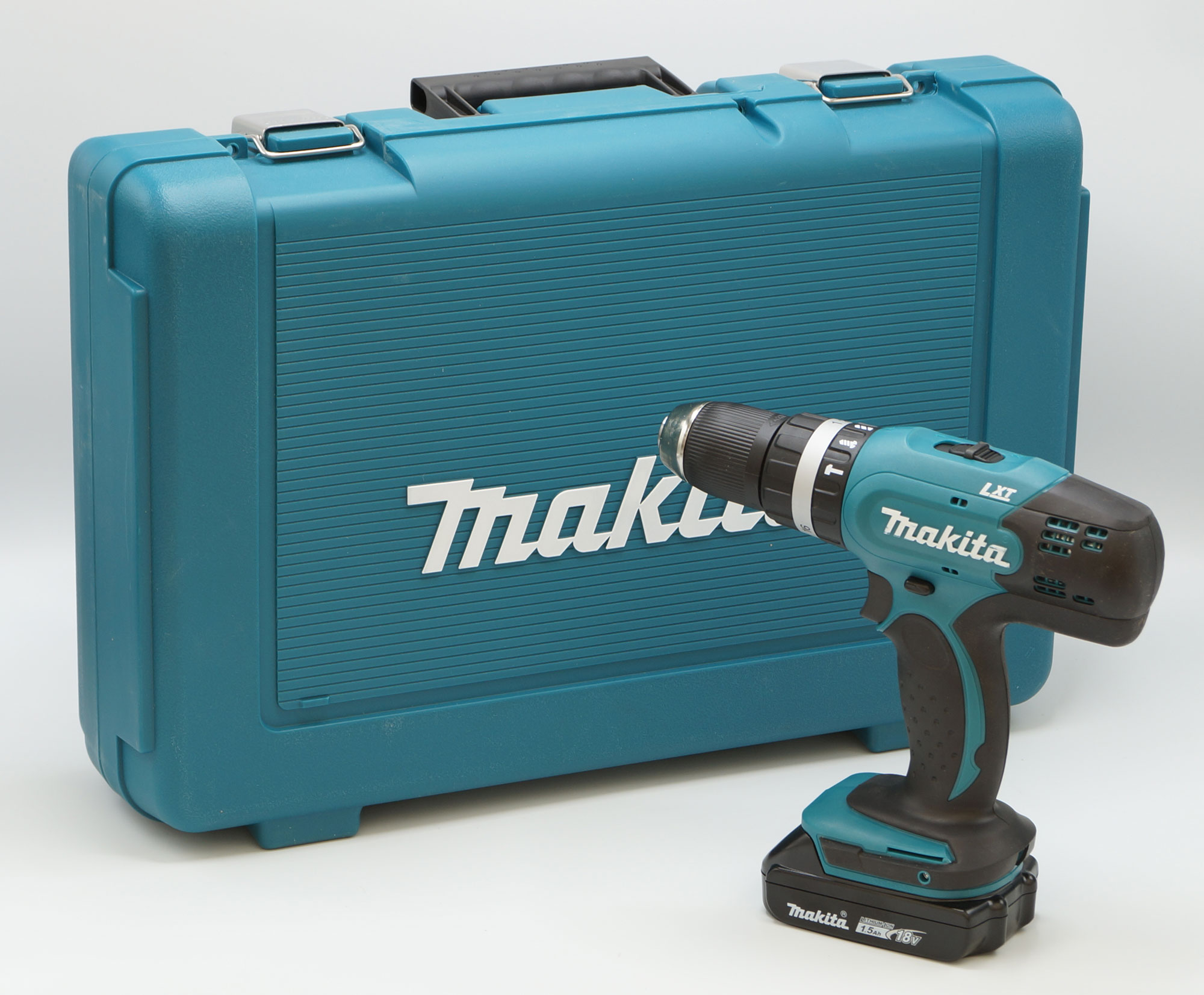 makita dhp453 y1j 18v cordless hammer drill incl case 1. Black Bedroom Furniture Sets. Home Design Ideas