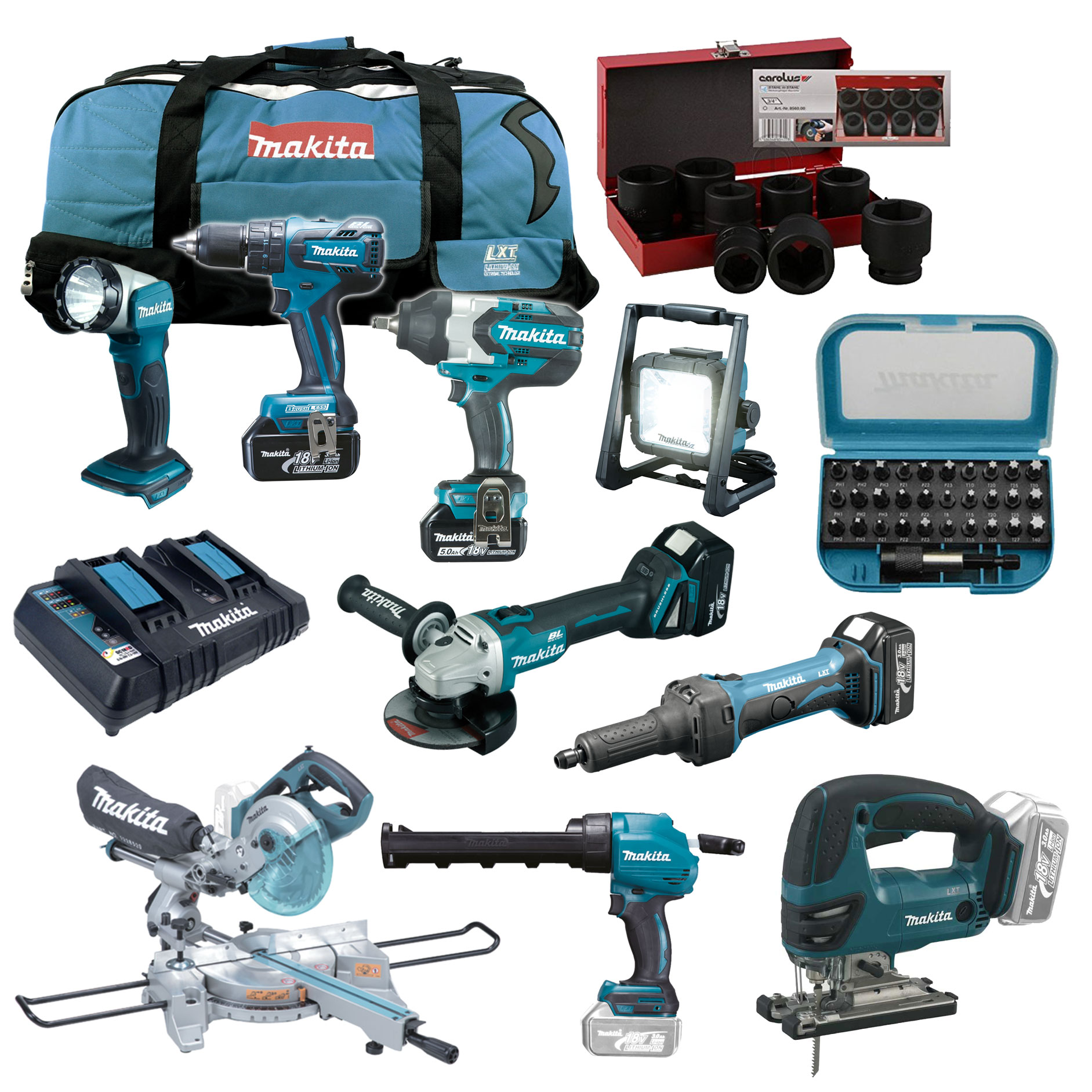makita 18v akku elektro werkzeug set solas safety of life. Black Bedroom Furniture Sets. Home Design Ideas