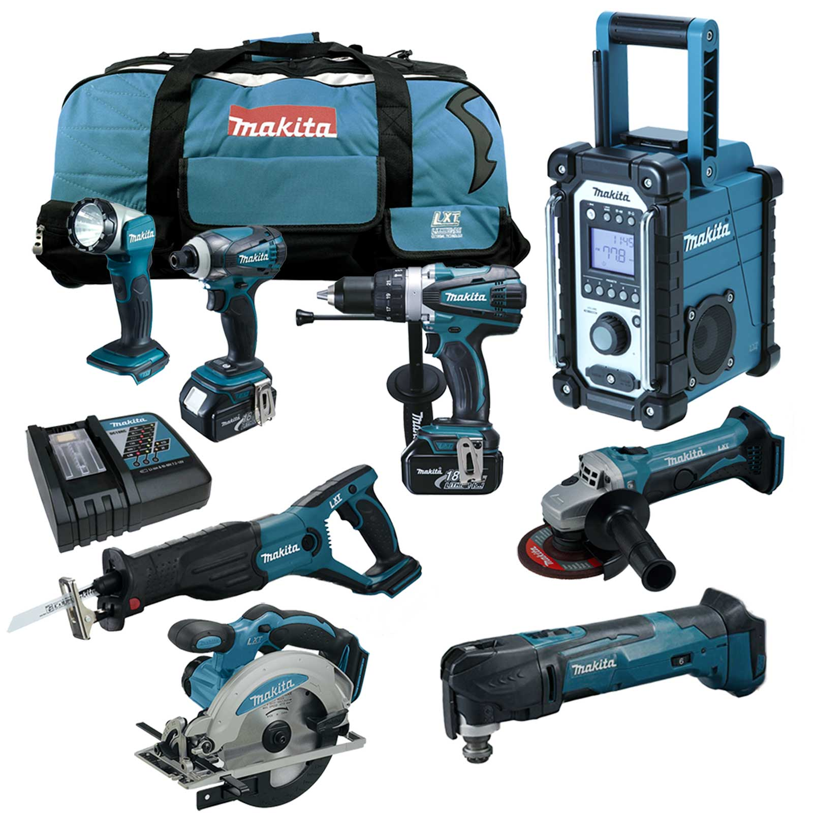makita dtm51 rt1j3 multitool lxt 18v akku werkzeug set. Black Bedroom Furniture Sets. Home Design Ideas