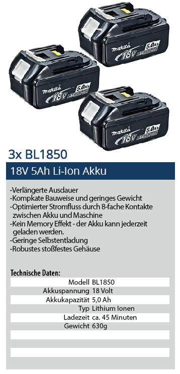 18tlg makita akku megaset schlag bohrschrauber dhp458. Black Bedroom Furniture Sets. Home Design Ideas