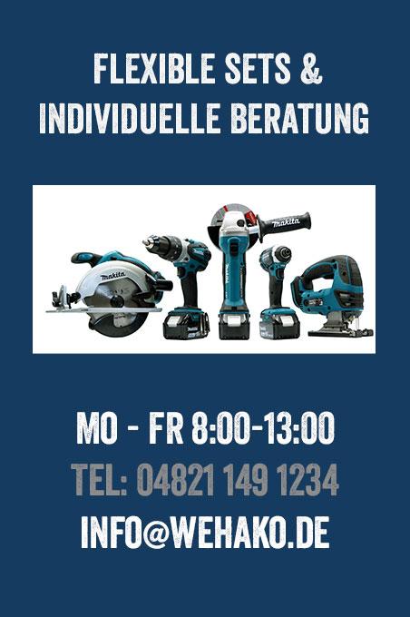 Makita FlexiSet - Combo Kit - Ihr individuelles Makita Werkzeug Set