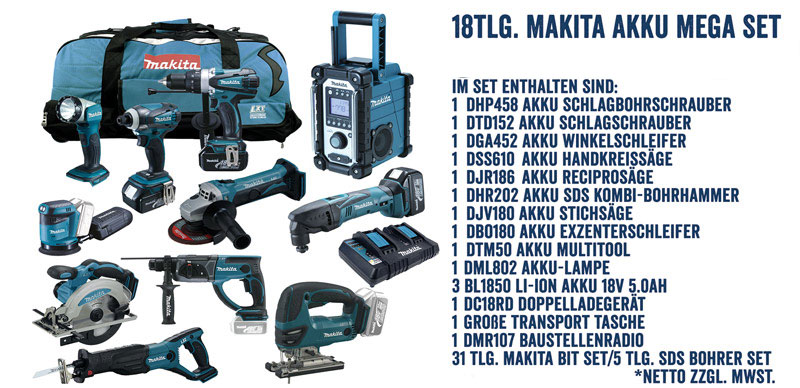 Makita LXT Akku Werkzeug Set